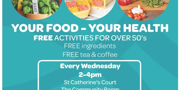 Your Food – Your Health. FREE activities for the over 50's, Wednesday 2-4pm. thumbnail